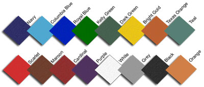 CheerKids Uniforms Color Chart