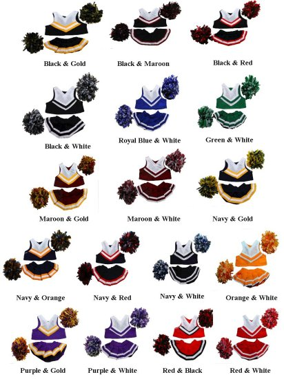MVP Cheer Bear Color Chart